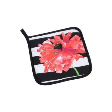 ARTHOME SET CELEMEK DAPUR FLOWER 3 PCS - HITAM_4