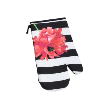 ARTHOME SET CELEMEK DAPUR FLOWER 3 PCS - HITAM_3