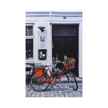 LUKISAN DEKORATIF BICYCLE 53A 90X60 CM_1