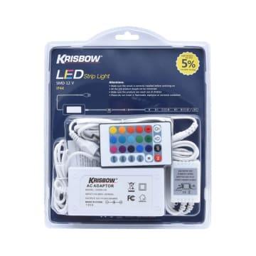 KRISBOW LAMPU LED STRIP 12V 5M 24W - RGB_2