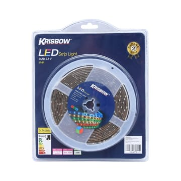 KRISBOW LAMPU LED STRIP 12V 5M 24W - RGB_1