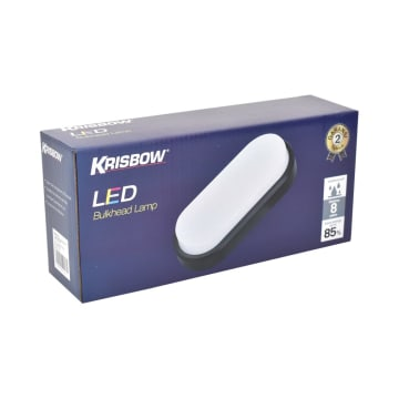 KRISBOW LAMPU DINDING LED OVAL 16W 6500K - HITAM_2