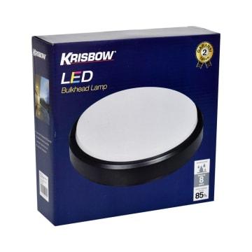 KRISBOW LAMPU DINDING LED ROUND 16W 6500K - HITAM_2