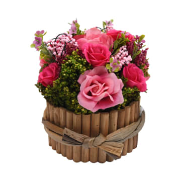 BUNGA KERING ASLI DRIED FLOWER Y50 15.5 CM - FUSCHIA_1