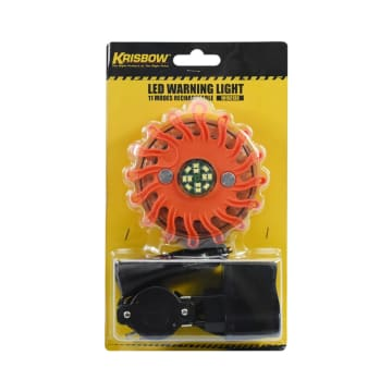 KRISBOW LAMPU WARNING RECHARGEABLE 11 MODE_1