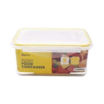 APPETITE WADAH MAKANAN RECTANGLE 1.1 LTR - KUNING_3