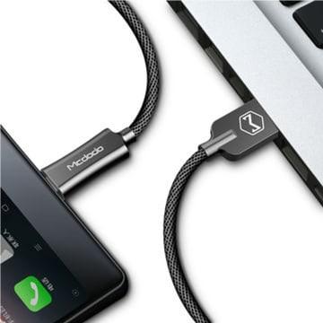 MCDODO KABEL USB TO MICRO USB FAST CHARGING 1 M - HITAM_2