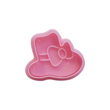 COOKING COLOR SET CETAKAN KUE MINI GIRLY 4 PCS - PINK_4