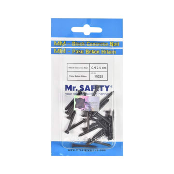 MR.SAFETY PAKU BETON 2.5 CM - HITAM_1