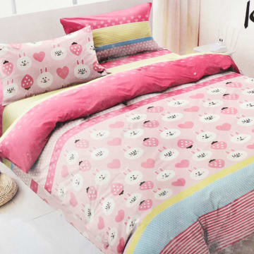 KRISHOME SET SEPRAI DAN BED COVER STRAWBERRY_1