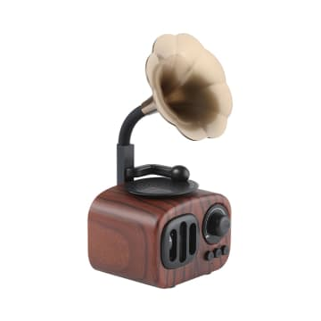 SPEAKER BLUETOOTH ANTIK GRAMOPHONE - GOLD_1