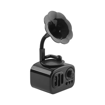 SPEAKER BLUETOOTH ANTIK GRAMOPHONE - HITAM_1