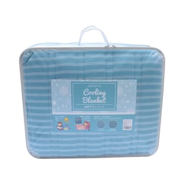 COOLING BED COVER 210X210 CM - BIRU_2