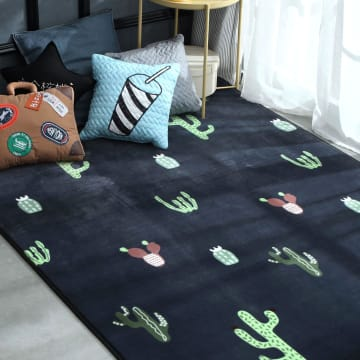 KARPET RECTANGLE CACTUS 130X190 CM - BIRU_1