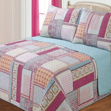 BED COVER 240X210 CM NT454 - PINK_1