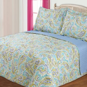 BED COVER 240X210 CM NT5032 - HIJAU_1