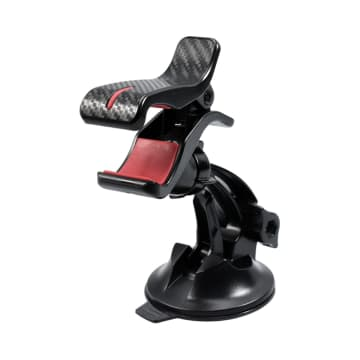 CARMATE HOLDER SMARTPHONE SUCTION CLIP - MERAH/HITAM_1