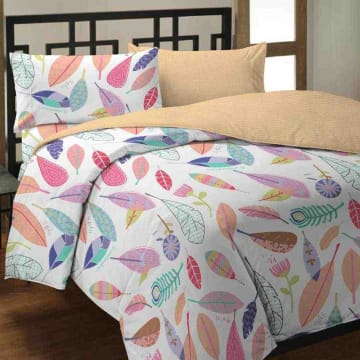 BED COVER MICROFIBER FEATHER 240X210 CM_1