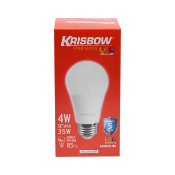 KRISBOW LAMPU BOHLAM LED PREMIER 4 W - COOL DAYLIGHT_2