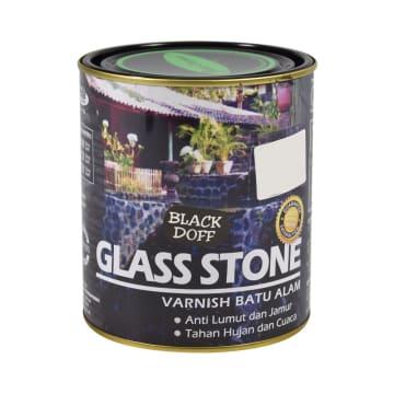 GLASS STONE CAT PERNIS BATU ALAM 1 LTR - HITAM DOFF_1