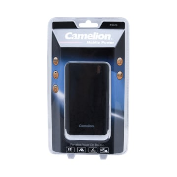 CAMELION POWER BANK DENGAN SENTER LED 6000 MAH 2.1 A - HITAM_1