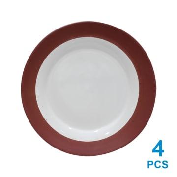 DELIZIOSO SET PERLENGKAPAN MAKAN STONEWARE 16 PCS - MERAH_4
