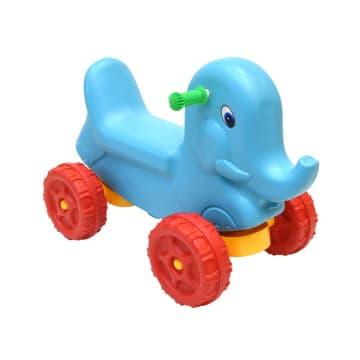KIDDY FUN MAINAN TUNGGANG ANIMAL CAR ELEPHANT 65X35X48 CM - BIRU_1