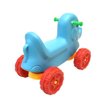 KIDDY FUN MAINAN TUNGGANG ANIMAL CAR ELEPHANT 65X35X48 CM - BIRU_4