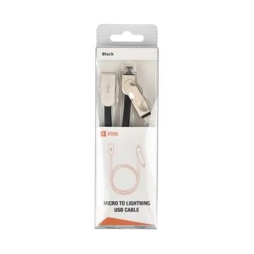 ATARU KABEL USB TO MICRO/LIGHTNING - HITAM_1