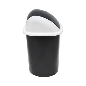 TEMPAT SAMPAH PLASTIK TUTUP AYUN MINI 1.5 LTR - HITAM_3