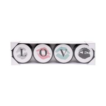 SET HIASAN DINDING LOVE H15 4 PCS 12.7X3X12.7 CM_1