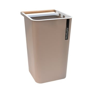 TEMPAT SAMPAH PLASTIK ZEN 10 LTR - COKELAT_1