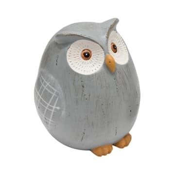 SET MINIATUR DEKORASI OWL 2 PCS - ABU-ABU_2