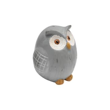 SET MINIATUR DEKORASI OWL 2 PCS - ABU-ABU_3