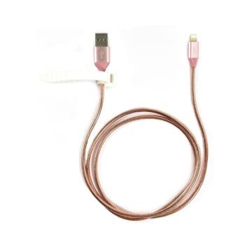ATARU KABEL USB TO MICRO/LIGHTNING - ROSE GOLD_1