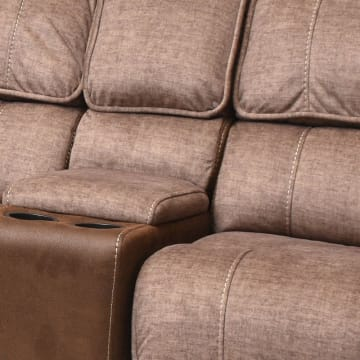CHEERS MONDAY SOFA SUDUT RECLINER - COKELAT_4