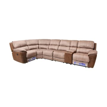 CHEERS MONDAY SOFA SUDUT RECLINER - COKELAT_1