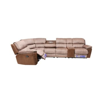 CHEERS MONDAY SOFA SUDUT RECLINER - COKELAT_3