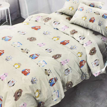 KRISHOME SET SEPRAI DAN BED COVER OWL_1