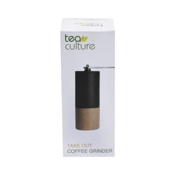 TEA CULTURE TAKE OUT COFFEE GRINDER -  HITAM/COKELAT_2