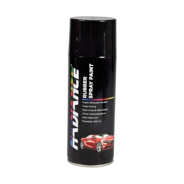 RADIANCE CAT SEMPROT AKRILIK RUBBER MATT 400 ML - HITAM_1