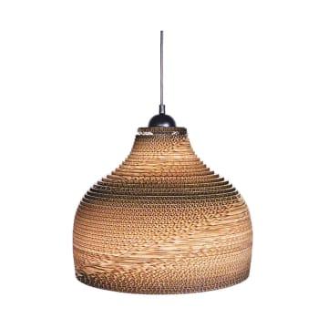 EGLARE LAMPU GANTUNG HIAS CARDBOARD DOME - COKELAT_1