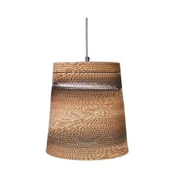 EGLARE LAMPU GANTUNG HIAS CARDBOARD CONE - COKELAT_1