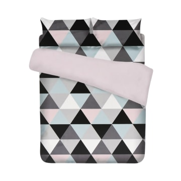 BED COVER MICROFIBER PASTEL TRIANGLE 240X210 CM_1