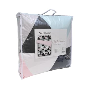 BED COVER MICROFIBER PASTEL TRIANGLE 240X210 CM_2