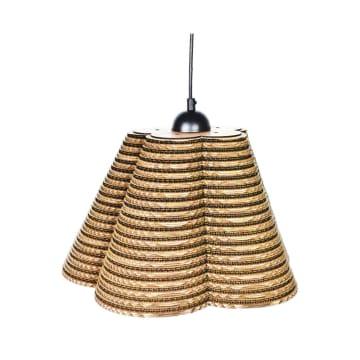 EGLARE LAMPU GANTUNG HIAS CARDBOARD FLO - COKELAT_1