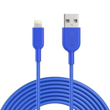 ANKER KABEL POWERLINE II LIGHTNING IPHONE 3 MTR A8434H31- BIRU_1
