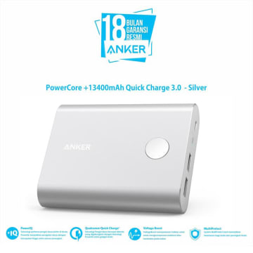 ANKER POWER BANK POWERCORE 13400 QC 3.0 A1316H41 - SILVER_6