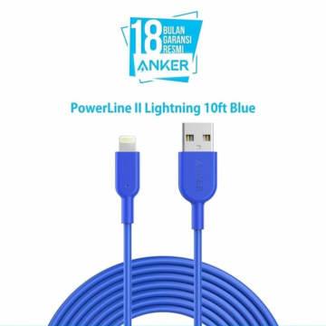 ANKER KABEL POWERLINE II LIGHTNING IPHONE 3 MTR A8434H31- BIRU_5