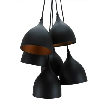 GAIA LAMPU GANTUNG HIAS 6L 40X220 CM - HITAM_1
